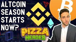 ALTCOIN SEASON STARTS NOW? 4 Bitcoin bull indicators! Pizza Heroes Revealed! Binance, DigixDAO
