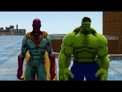 The Vision VS Green Hulk - Avengers 2 Epic Battle