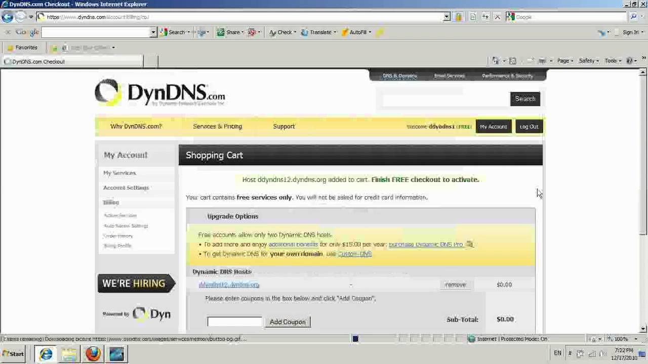 How to do port forwarding DynDNS and Dynamic IP - YouTube