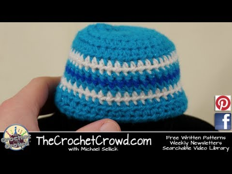 How to Crochet A Baby Hat: 6 Month Size