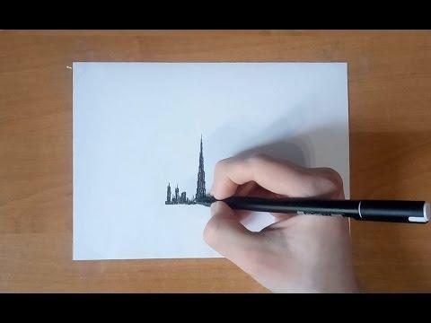 видео: speed drawing dubai   Рисунок Дубай