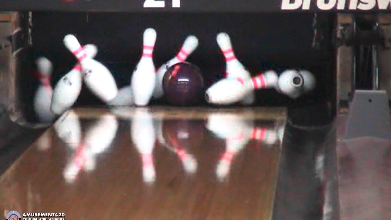 COLUMBIA 300 MESSENGER TITANIUM Bowling Ball Action ...