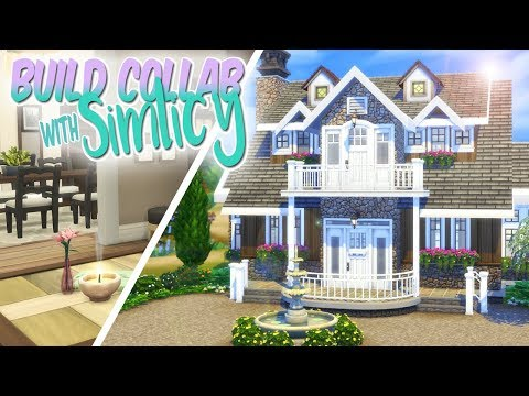 50/50 BUILD COLLAB with SIMLICY | The Sims 4: Large Traditional Family Home Build