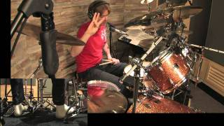 Drum Lesson No.27: Linear Fills Lesson No # 7. Double Drops in 5 & 3 Explained By CHRIS BRIEN HD