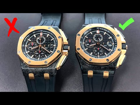 How to Spot Fake Watches - Audemars Piguet Royal Oak Offshor