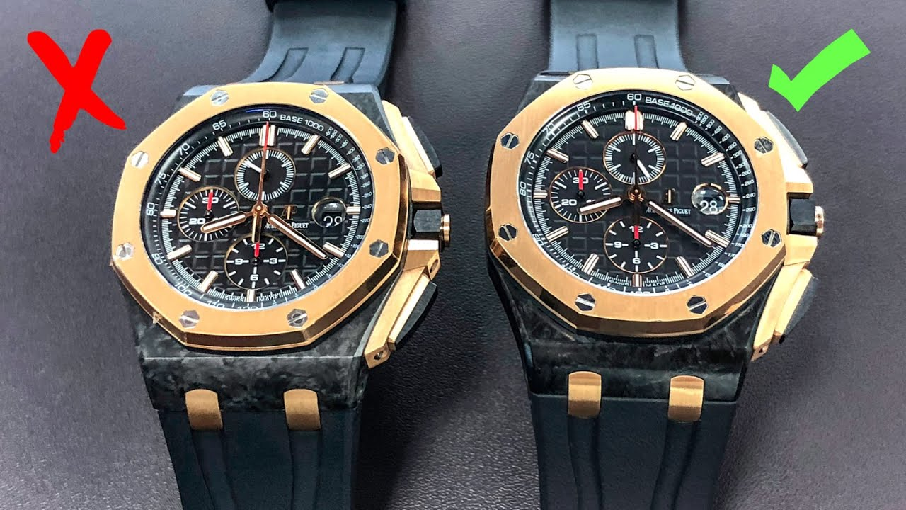 33e52e2e547 How to Spot Fake Watches - Audemars Piguet Royal Oak Offshore - YouTube