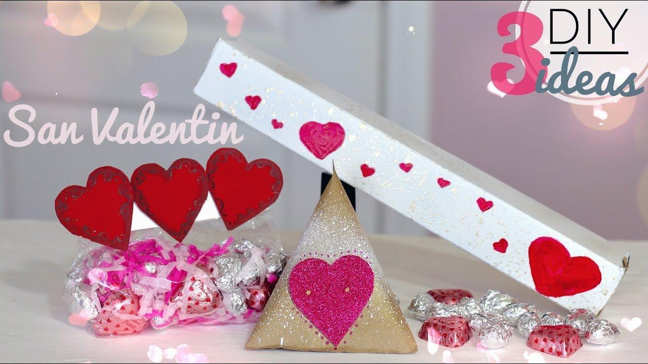 Diy 3 ideas para san valent n manualidades para regalar o vender dia del amor y amistad - Manualidades para hacer en san valentin ...