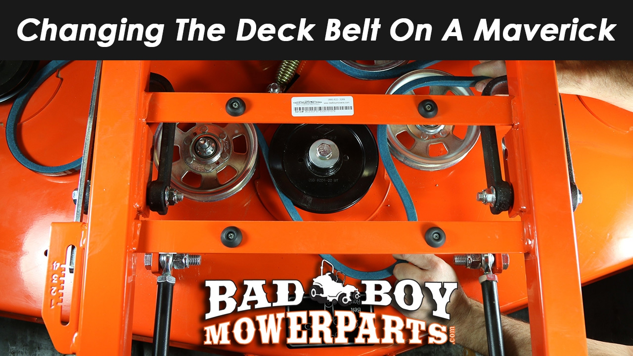 Changing The Deck Belt On The Maverick