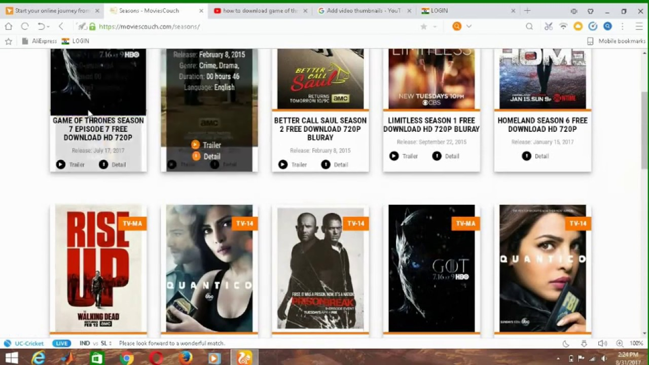 how to download game of throne season 1,2,3,4,5,6,7 in hd free