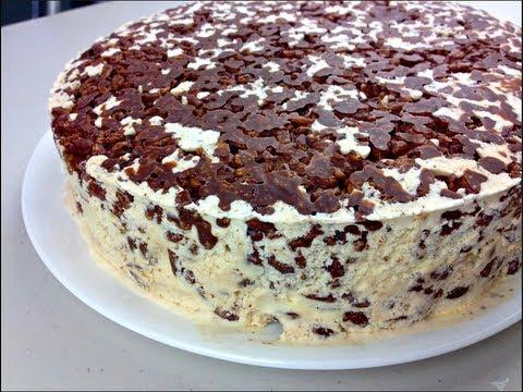 Nutella Ice Cream Cake Youtube