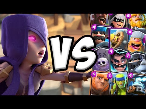Witch Rework GAMEPLAY vs All Cards | Clash Royale