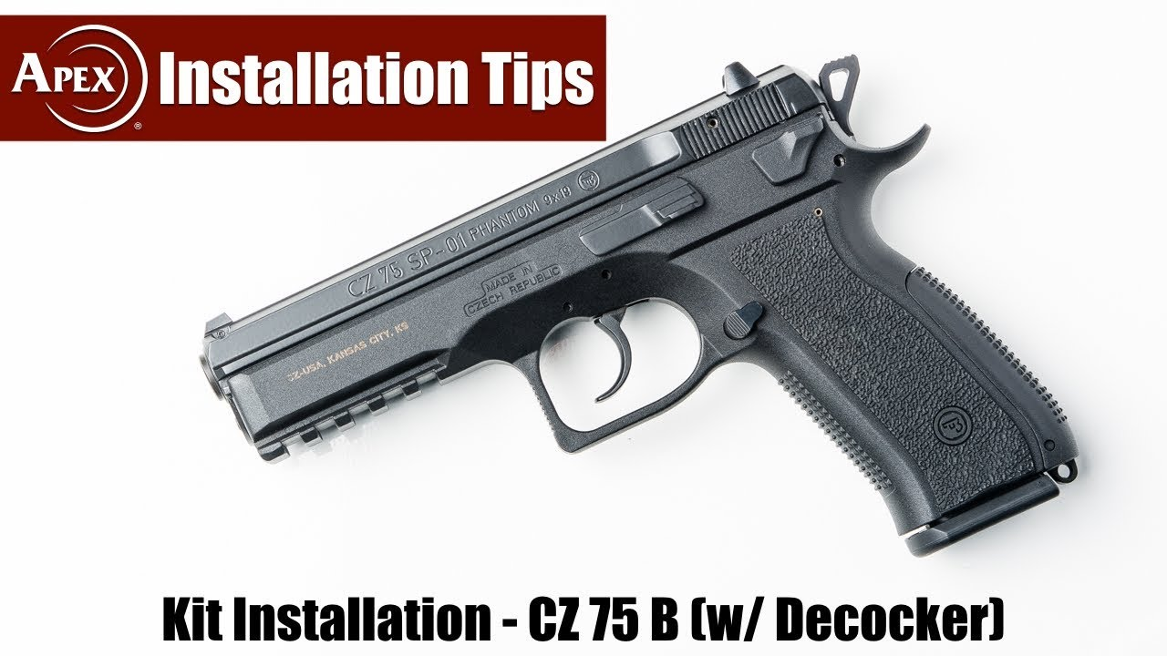 How To Disassemble & Reassemble The CZ 75 Decocker Frames