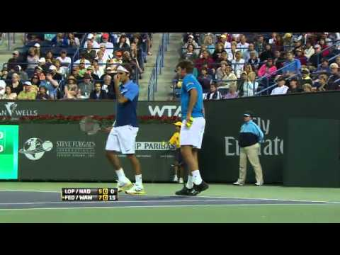 Indian.Wells.2011.Doubles.Federer/Wawrinka.vs.Lopez/Nadal