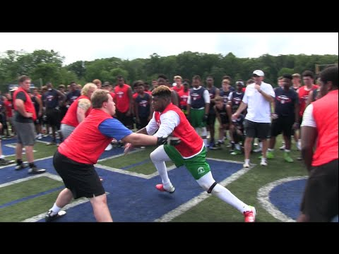All American Football Camp | Class of 2017 Defensive End, Saevon Dinkins