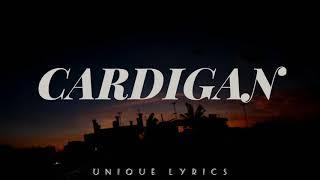 Taylor Swift- Cardigan (Lyrics)