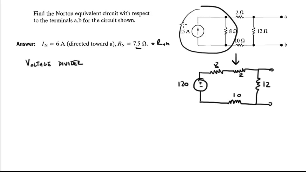 Find The Equivalent Resistance In This Circuit Norton With Respect To Terminals A For Shown