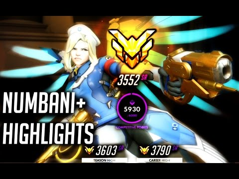 Overwatch 3552 Master Mercy Solo Q in Numbani + Highlights