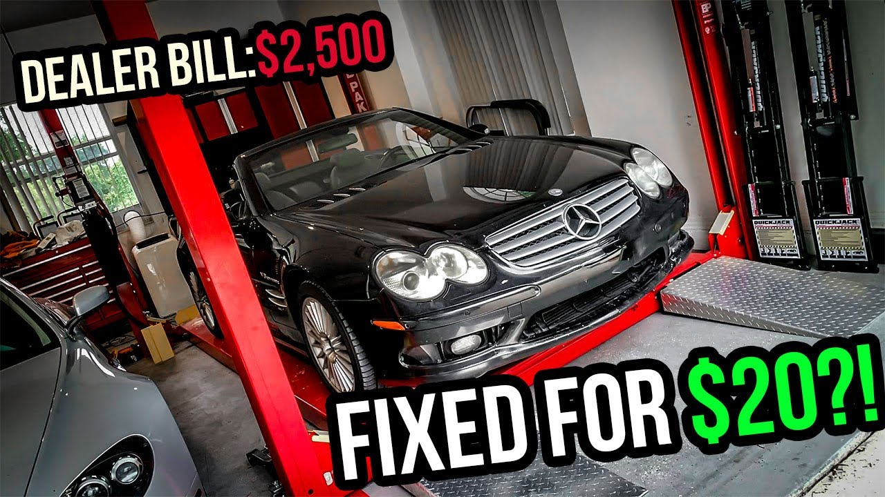 I Fixed A $2,500 Problem On My Cheap Mercedes-Benz SL55 AMG For $20?