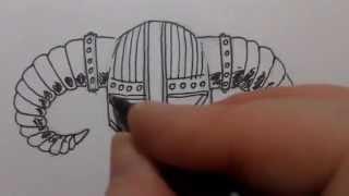 How To Draw A Skyrim Helmet