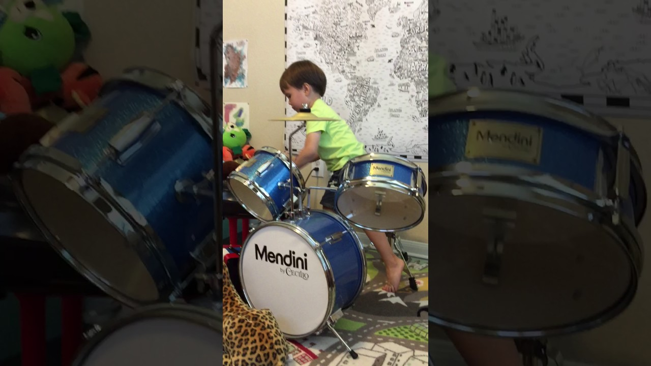 3 Year Old Goes Nuts On Best Kids Drum Set Youtube
