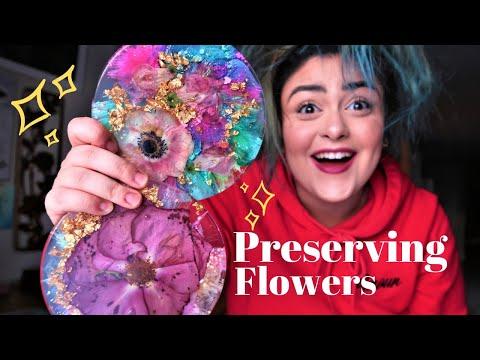 Preserving REAL Flowers In Resin!