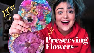 Preserving REAL Flowers In Resin!