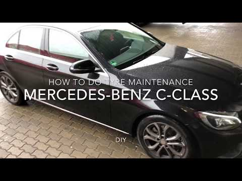 How to do tyre maintenance Mercedes Benz C180 Coupe take care of your tyre flanks with Nigrin 74075