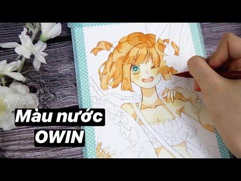 Review màu nước Owin giá rẻ | Vẽ tranh cung Cự Giải | Zodiac Watercolor Speed Paint