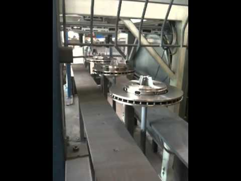 brake disc coating line 1 youtube. Black Bedroom Furniture Sets. Home Design Ideas