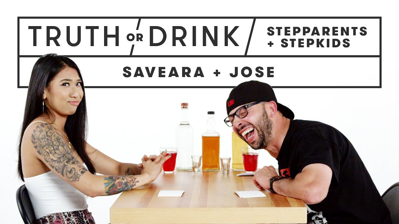 Stepparents & Stepkids Play Truth or Drink (Saveara & Jose) | Truth or Drink | Cut