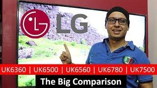 LG 4K Smart TV Comparison | UK6360 | UK6500 | UK6560 | UK6780 | UK7500 (Hindi)