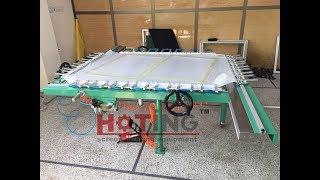 Mechanical screen printing frame mesh fabric stretching machine