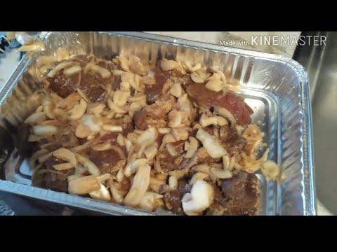 Baked Chuck Roast With Potatoes Mushroom And Onion.