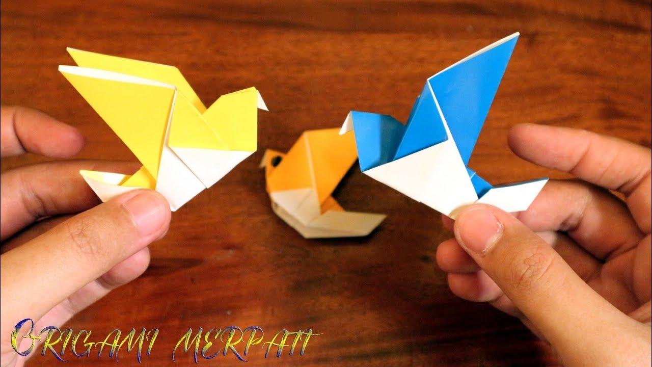 Cara membuat origami burung merpati sederhana YouTube