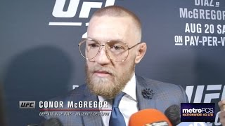 UFC 202: Conor McGregor Backstage Interview thumbnail