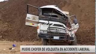 MUERE CHOFER DE VOLQUETA EN ACCIDENTE LABORAL