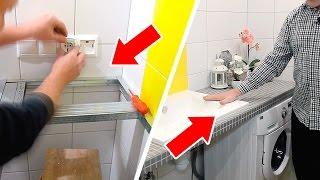 видео столешница для ванной