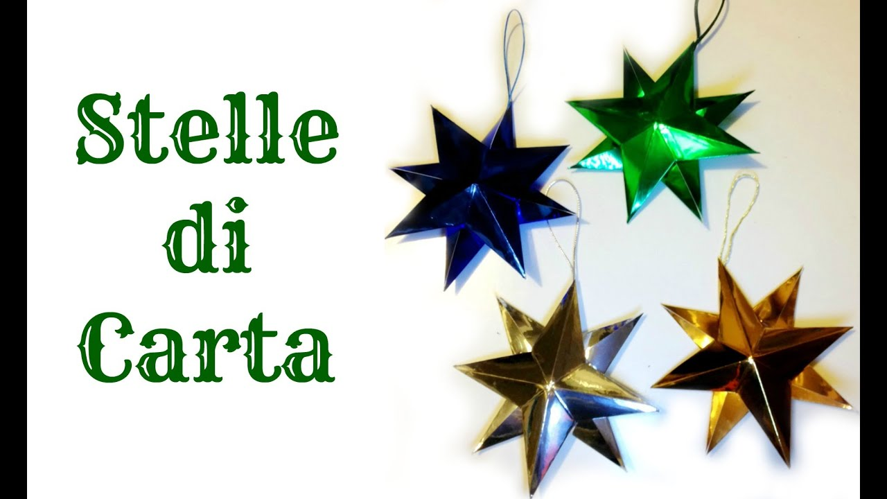 How To:Tutorial STELLE DI CARTA 3D Decorazione facile