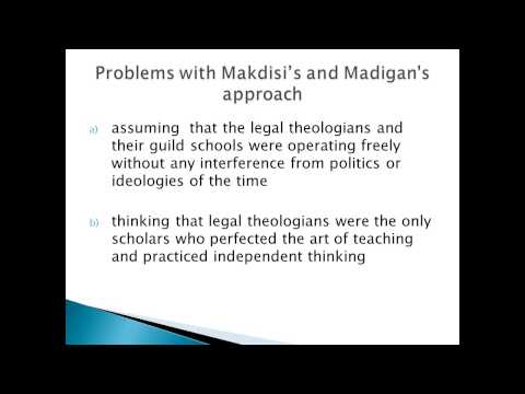 Islamic Scholasticism and Traditional Education