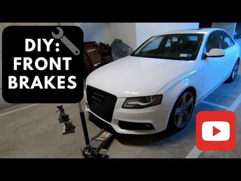 DIY: Audi A4 b8 Front Brake pads and Brake Rotors Replacement 2009-2015