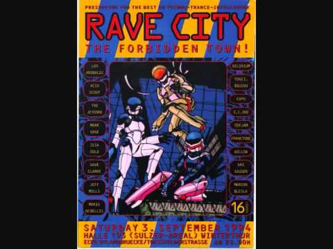 Jeff Mills vs Dave Clarke at Rave City, Winterthur 03.09.1994