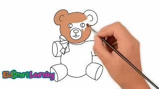 Drawing and coloring Beara for kids with KidsSmart Learning