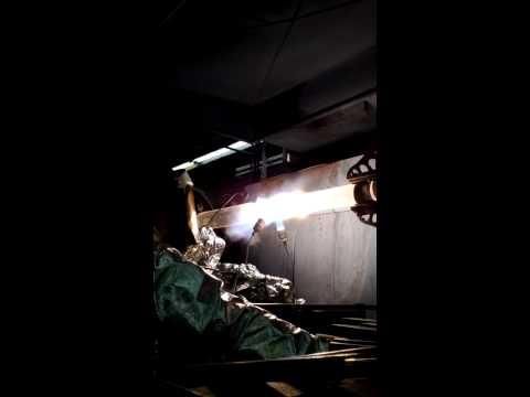 Quartz glass blowing Heavy wall