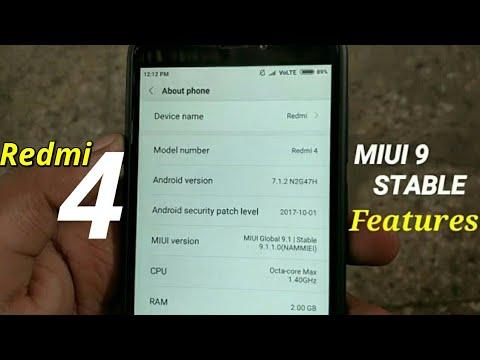 Redmi 4 - MIUI 9.1.1.0 ( FEATURES)