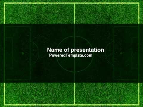 Football Play Field Powerpoint Template By PoweredtemplateCom