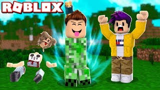 WE BECOME a CREEPER in ROBLOX !!