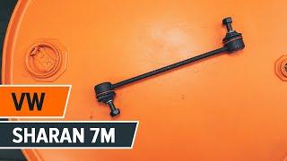 Kaip pakeisti Priekinė stabilizatoriaus traukė VW SHARAN 7M [Pamoka]