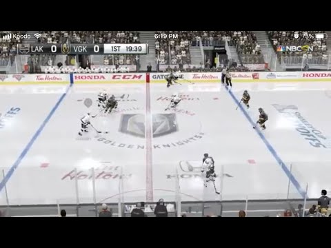 LA Kings vs Vegas Golden Knights - Game 1 (NHL 2018 Playoff Simulation)