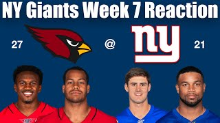 NY Giants Week 7 Reaction (Time to Rant About Shurmur)