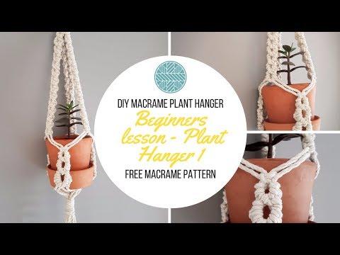 DIY Macrame Plant Hanger - Macrame Project - Plant Hanger Tutorial